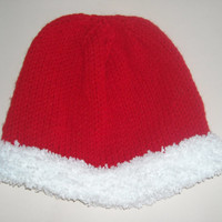 Hat/Knit hat,knit beanie,knit christmas hat,knit christmas beanie,Santa beanie,red beanie,red hat,red knitted hat