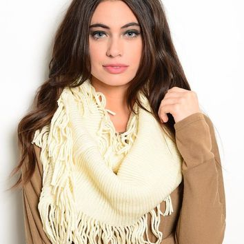 Finge Infinity Scarf in Off White