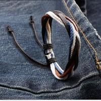 Shiny New Arrival Gift Great Deal Awesome Hot Sale Leather Men Korean Stylish Cool Accessory Bracelet [6526714691]