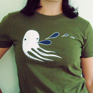 Octopus T-shirt (Olive Green)