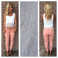 White Scallop Isadora Lace Crop Top