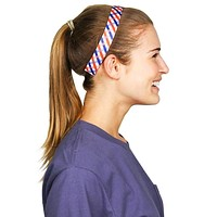 Red White and Blue Tattersall Headband by Sweaty Bands