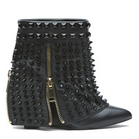 LUST FOR LIFE BATTLE WEDGE BOOTIE - BLACK