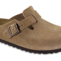 Boston Soft Footbed Jasper Suede Clogs | Birkenstock USA Official Site