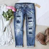 Stitch & Patch Boyfriend Jeans
