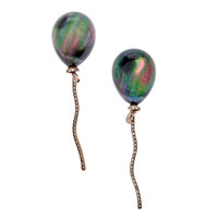 """Balloon"" Quartz Mother-of-Pearl Diamond Clip-On Earrings"