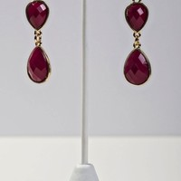Maroon Dangle Earrings