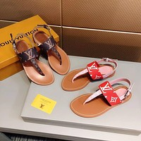 Louis Vuitton LV Fashion Flat Shoes Sandal