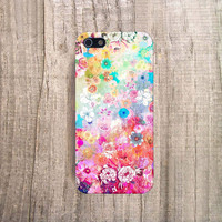 FLORAL iPhone 4 Case, ombre iPhone5 Case, Floral iPhone 4s Case, Floral Accessories iPhone 4 Case, Spring iPhone Case, Ombre iPhone 4 Case