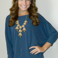 Melanie Top (Blue) | Girly Girl Boutique