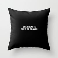 Wild Hearts Throw Pillow by Deadly Designer