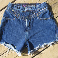 High Waisted Studded Rockies Shorts Size 6 by DenimAndStuds