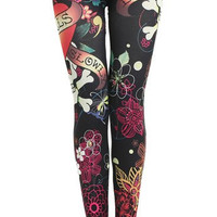 Women Stretchy Printed Leggings