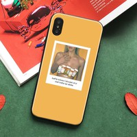 Hippie Aesthetics yellow Pattern Soft Silicone Phone Case Cover shell For Apple iPhone 5 5s Se 6 6s 7 8 Plus X XR XS MAX