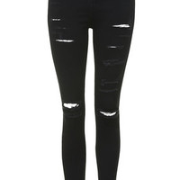 MOTO Super Ripped Jamie Jeans - Black