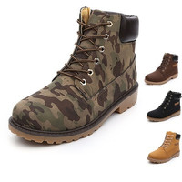 Camouflage Martin ankle snow boots stylish winter men shoes military high top boots british style size 39-44 [8822147395]
