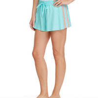 Linen Embroidered Shorts
