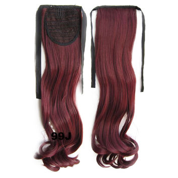 Wig Horsetail Lace-up Long Curled Hair    99J#