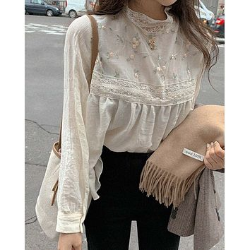 Sweet Embroidered Top