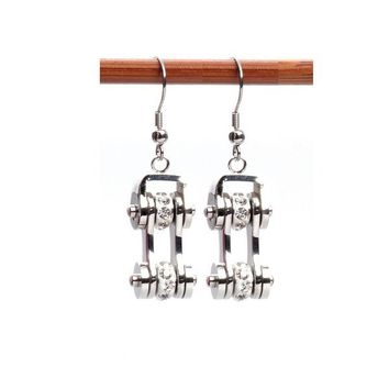 Motorcycle Chains Drop Earrings