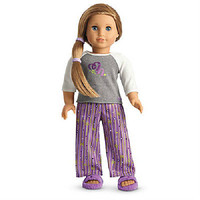 American Girl McKenna's PAJAMAS Top Bottoms Slippers SET Doll is NOT INCLUDED
