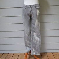 a. n. a.  Bleached Gray Jeans, Size 6