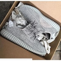 Adidas Yeezy Boost 350 Men And Women High Quality Trend Comfortable Sports Running Shoes F Grey