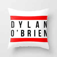 Dylan O'Brien Name #1 Throw Pillow by Denise