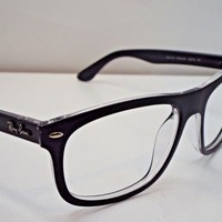 Authentic Ray-Ban RB 4226 6052/9A Black Transparent Sunglasses Frame $225