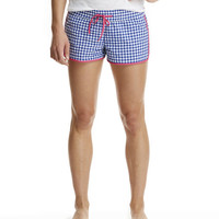 Puckered Gingham Harbor Shorts