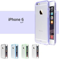 iPhone 6 Case, 5 Pack Ace Teah Ultra Thin Slim Crystal Clear Back Panel with Rubber Bumper Durable Bump Shock Protection Cover Transparent Case for iPhone 6 / 6s - Black, White, Purple, Blue, Green