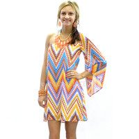 Sahara Sun Chevron One Sleeve Dress