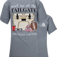 SALE Southern Couture Meet Me at the Tailgate Comfort Colors T-Shirt