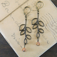 Falling Leaves Earrings - Bronze