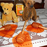 Fake Wooden Honey Dipper Spill Food Staging Fun Prop