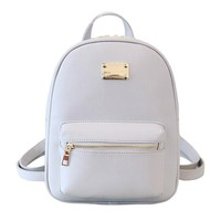 PU Leather Women's small Backpacks