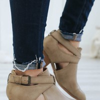 Lost in Wonder Booties - Taupe