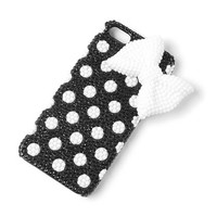 Black and White Bead Flowers and Bow Cover for iPhone 5  | Claire's