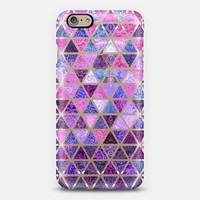 Berry Purples - Triangle Patchwork Pattern iPhone 6 case by Micklyn Le Feuvre   Casetify