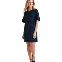Blackwatch Flutter Sleeve Dress