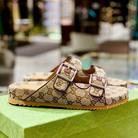 GG summer new mens and womens slippers shoes-3