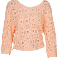 Allover Lace Long-Sleeve