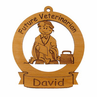 Future Veterinarian Ornament Personalized with Your Child's Name