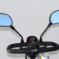 Deluxe Scooter Rear View Mirror Pair J400 - Challenger Accessories Rear View Mirrors   TopMobility.com