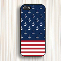 anchor stripe,blue iphone case,iphone 5s case,iphone 5 case,iphone 5c case,iphone 4 case,iphone 4s case,national flag case,092
