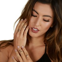 Gold Rings On All Fingers Set