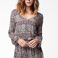Billabong See The Sun Long Sleeve Romper - Womens Dress - Multi