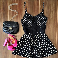 Polka Dots Lace Dress