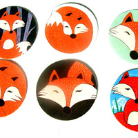 Fabulous Foxes Stickers Set of 22 Foxes For All Nature Animal Woodland