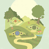 The Shire Art Print by Merlin